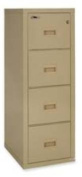 FireKing 4R1822CPA - Turtle 4-Drawer File, 17-3/4w x 22-1/8d, UL Listed 350 for Fire, Parchment