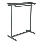 Double-Sided Garment Rack, Steel, 48w x 23-1/2d x 61-1/2h, Black Powder Coat