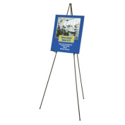"Full Size Instant Easel, 62-3/8"" Maximum Height, Steel, Black"