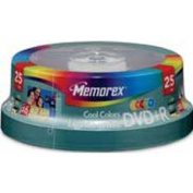 DVD+R Recordable Disc LightScribe, 4.7GB, Spindle, 25/Pk