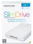 MEMOREX 98340 SlimDrive Portable Hard Disk Drive - 500GB - USB - 5400rpm