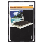 Travel Notebook Optical Mouse Pad, Nonskid Back, 13 x 9, Black