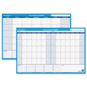 "Recycled 30/60-Day Undated Horizontal Erasable Wall Planner, 36"" x 24"""