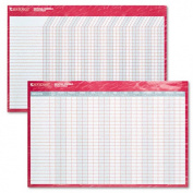 At-A-Glance At-A-Glance Wall Planner with MarkerReversibleErasable36 in.x24 in.Red-Blue