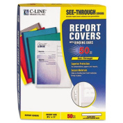 C-Line Products- Inc. CLI32557 Report Covers- w- Binding Bars- Clear Vinyl