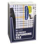 13-Pocket Expanding File, Nine Inch Expansion, Letter, Gray Plaid