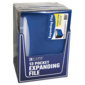 C-Line Products Inc CLI48235 C Line Open Top Expanding File Blue