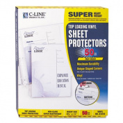 Super Heavyweight Vinyl Sheet Protector, Nonglare, 11 x 8 1/2, 50/BX