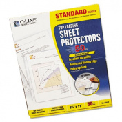 C-Line Products- Inc. CLI62037 Top-Load Sheet Protct- Standard-Wt- Ltr- CL