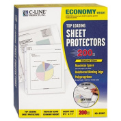 C-Line 62067 Top-Load Poly Sheet Protectors Economy Gauge Ltr Reduced-Glare 200/bx