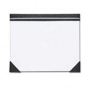 Executive Doodle Desk Pad, 25-Sheet White Pad, Refillable, 22 x 17, Black/Silver