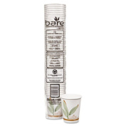 Bare PCF Hot Drink Cups, Paper, 10 oz., 50/Pack