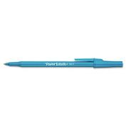 Ballpoint Stick Pen, Blue Ink, Fine, Dozen