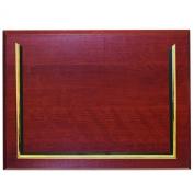 Executive Plaque, Plastic, 13 x 10-1/2, Mahogany