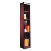 Narrow Profile Bookcase, Wood Veneer, Six-Shelf, 12w x 11-3/4d x 72h, Mahogany