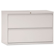 Two-Drawer Lateral File Cabinet, 42w x 19-1/4d x 29h, Light Gray