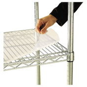 Alera Shelf Liners for Wire Shelving, 48Wx 18D, Clear Plastic, 4/Pack