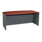 "72""W Bow Front Desk Shell Series C, Hansen Cherry"