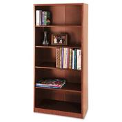 "30""W 5-Shelf Bookcase Quantum Harvest Cherry"