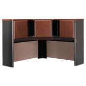 Series A Corner Hutch, 47-1/4w x 47-1/4d x 36-1/2h, Hansen Cherry/Galaxy