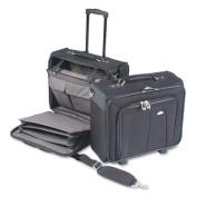 Side Loader Office Laptop Case, Nylon, 17-1/2 x 17-1/2 x 15, Black