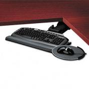 Professional Corner Executive Keyboard Tray, 19w x 14-3/4d, Black