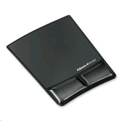 FELLOWES MOUSE PAD CLEAR BLACK AND WRIST SUPPORT GEL