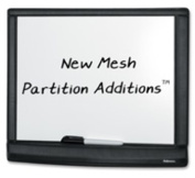 Mesh Partition Additions Dry Erase Board, 16 1/2 x 5/8 x 13 3/8, Black