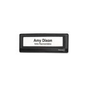 """Mesh Partition Additions Nameplate, 9 1/4""""w x 1 7/8""""d x 3 3/8""""h, Black"""
