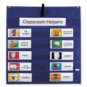 Job Pocket Chart with 14 Assignment Cards, Resource Guide, Blue, 26 1/2 x 27 1/2