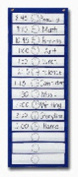 Scheduling Pocket Chart with 16 Cards, Guide, Hanging Grommets, 12 x 33