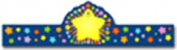 Frank Schaffer Publications/Carson Dellosa Publications Rainbow Star Crowns 30/pk