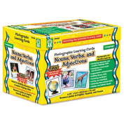 Carson-Dellosa D44045 Photographic Learning Cards Boxed Set Nouns/Verbs/Adjectives Grades K-12