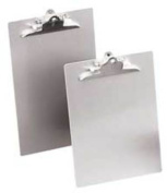 "Aluminum Clipboard w/High-Capacity Clip, 1"" Capacity, Holds 8-1/2w x 14h, Silver"
