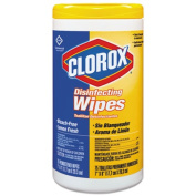 Clorox 15948EA Lemon Scent Disinfecting Wet Wipes- Cloth- 7 x 8- 75/Canister