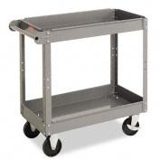 Tennsco 2-Shelf Service Cart, 80cm .H x 41cm .W x 80cm .D, Medium Grey