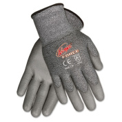 MCR Safety N9677L Ninja Force Polyurethane Coated Gloves- Large- Gray