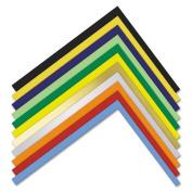 Metallic-Coloured Four-Ply Poster Board, 28 x 22, Gold/White, 25/Carton