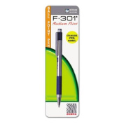 Zebra 27221 F-301 Ballpoint Retractable Pen Blue Ink Medium