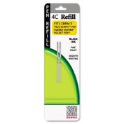 Zebra 85612 Refill for 4C Pocket Pen Fine Black Ink 2-Pack