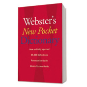 Houghton Mifflin 1019934 Webster?s New Pocket Dictionary- Paperback- 336 Pages