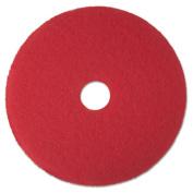 3M 08387 Buffer Floor Pad 5100 12 in. Red 5 Pads-Carton