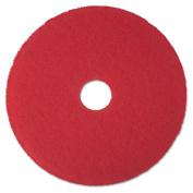 3M 08392 Buffer Floor Pad 5100 17 in. Red 5 Pads-Carton