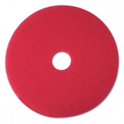 3M 08394 Buffer Floor Pad 5100 19 in. Red 5 Pads-Carton