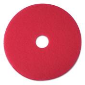 3M 08395 Buffer Floor Pad 5100 20 in. Red 5 Pads-Carton