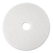 3M 08477 Super Polish Floor Pad 4100 13 in. White 5 Pads-Carton