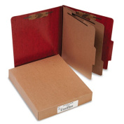 "Acco Brands, Inc. Classification Folder W/Fastener,Ltr,3"" Exp,2 Partition,Red"