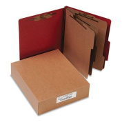 Acco Brands- Inc. ACC15038 Classification Folders- 4in. Exp- Letter- 3 Partition- Earth Red