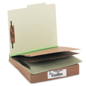 Acco Brands- Inc. ACC15046 Classification Folders- 3in. Exp- Letter- 2 Partition- Leaf Green