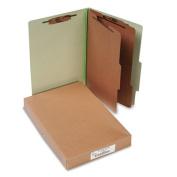 Acco 16046 Pressboard 25-Point Classification Folders Lgl 6-Section Leaf GN 10/box